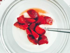 exfoliante yogur fresas