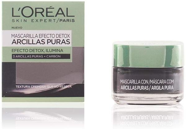 L'Oréal Paris Arcillas Puras Mascarilla Facial Limpiadora Negra